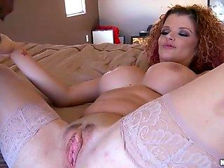 Girl with a big lips sucks a BBC