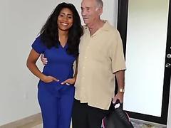 Japan old man Glenn finishes the job! - Tara Fox