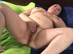 Me Busty Granny with a wet open pussy