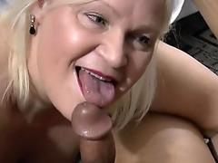 British granny gobbles long black dick