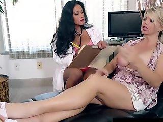 Asian Milf Maxine-X Butt Fucks Famous Vicky Vette !