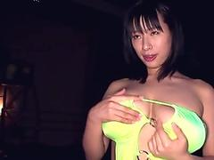 Busty asian AV model Hana Haruna in lingerie