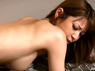 Man fingers and toys japanese babes bushy beaver