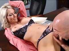 Fuck on her desk