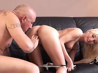 brunette masturbates masturbation on couch