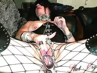 Slut-Orgasma Celeste Masturbating with a Speculum and Cumming Hard.