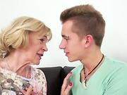 Lustful granny loves getting drilled