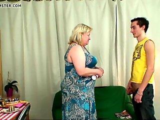 Boy fucks huge boobs mother-in-law