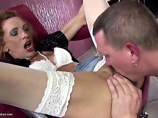 Brunette Teen Tart Bell Knock Gets Sensually Stretched