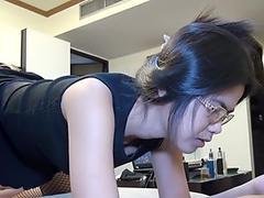 Thai arse cockslut With Glasses Opens cornhole