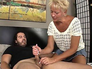 Mature Blonde Rubs Tiny Dick - Tracy Licks