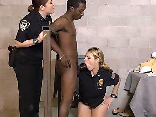 Black pimp subdued by Horny Female Cops