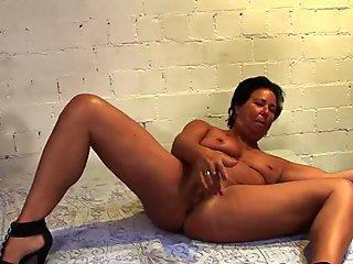 Gangbanged mature lady