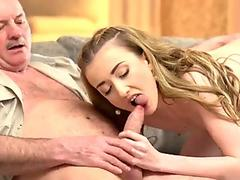Busty stepdaughter sucking daddy dick