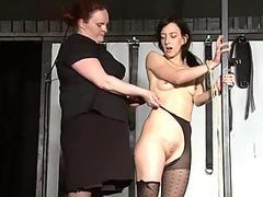 tough lezzie domination of slaveslut Elise Graves in hardcore bdsm punish