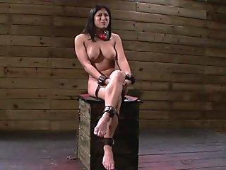 Slave Mia Li Rough drilled deep on her throat at the dungeon