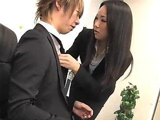 Hot lady Ai Mizushima pleases her horny boss
