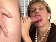 woman Sonia pummels two guys gets covered in cum