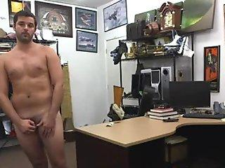 Amateur jerks his cock