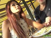 TUKTUKPATROL Skinny Thai Slut Lets Big Dick Fuck Her Hairy Bush