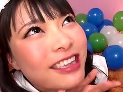 JAV Airi Natsume CFNM blowjob cumshot Subtitles