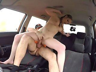Fake Driving School Busty Blonde Georgie Lyall gets customer satisfaction