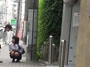 Japanese teenagers piss and get watched