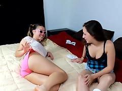 Slutty Teens Sniffing Dirty Panties