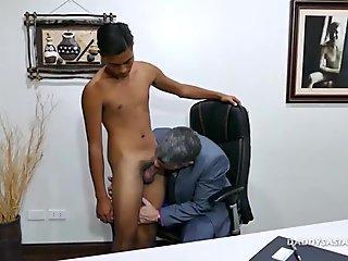 Daddy and Asian Boy Josh Bareback