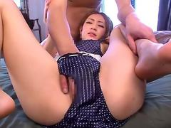 Deviant Japanese whore loves to be fingered and toyed