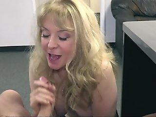 SheWillCheat - older MILF Nina Hartley Hires Young Stud For hard-core fuck-a-thon