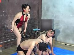 Watch free Asian Tranny fucked in the asshole in threesome