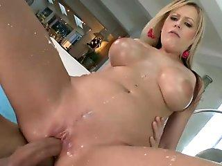 Wild Darcy Tyler bounces her pussy on this hard cock