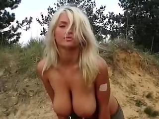 Legendary Big hooters honey Ines Cudna wank in Military dress style