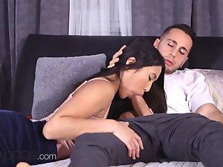 Dane Jones Romantic sex with gorgeous petite Asian girlfriend May Thai