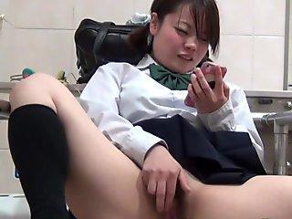 Asian masturbates solo