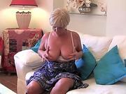 White BITCH sucks her first BLACK cock