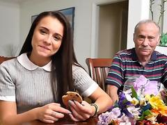 Amy teases grey haired old men