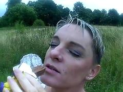 Teen ladyboy takes a big cock in her mouth and her asshole