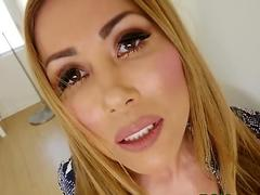 Pov juggs asian facial