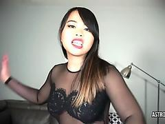 slobbering and Faceslapping - AstroDomina japanese domina