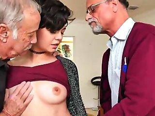 Thai shemale gets fucked in the ass by white cock