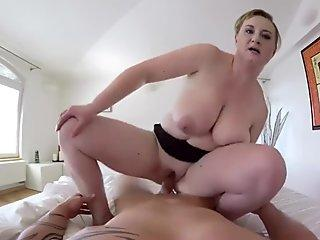 Tall milf Black Male squatting in home gets our milf officers squatting on his face.