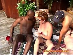 Interracial Orgy at Granny's House