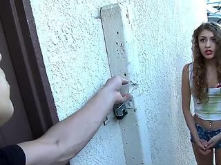 Caged Teen Fucks A Big Cock