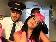 Very hot stewardess