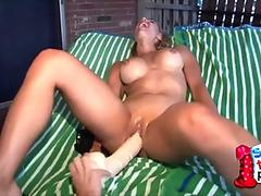 Two Hot Blondes Plays With A Massive Dildo