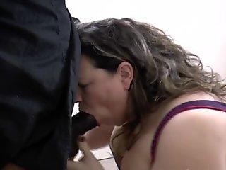 my leashed slave Brit 19 gets cum baptism