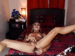 Shemale Jerking And Ass Toying