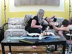 Lesbian Stepsister Takes Nasty Sex Threesome Gay & BBW Babe